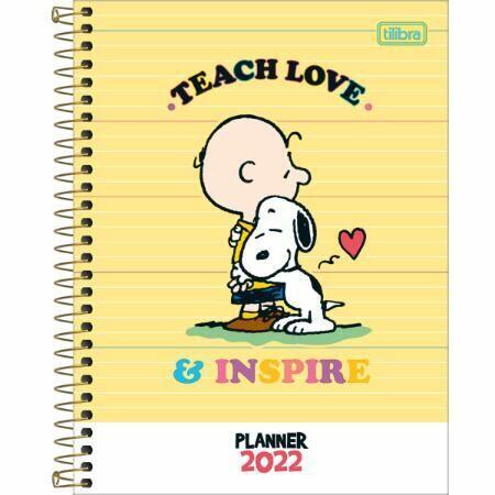 Agenda Espiral Planner Snoopy M7 Tilibra