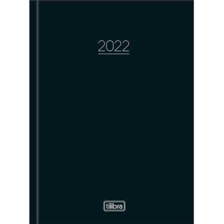 Agenda Costurada Diária Pepper Preta 2022 Tilibra