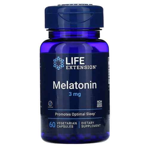 Hormônio do sono Melatonina 3 mg - Life Extension - 60 Cápsulas