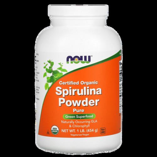 Spirulina Orgânica Certificada em Pó - Now Foods - 454g