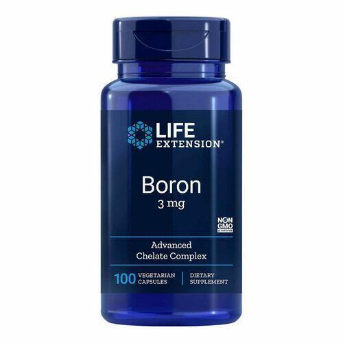 Boron 3 mg 100 Cápsulas Vegetarianas - Life Extension