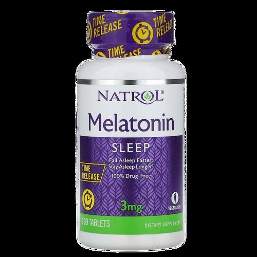 Melatonina 3 mg Liberação Prolongada - Natrol - 100 comprimidos