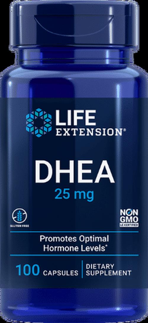 DHEA 25 mg  -  Life Extension - 100 cápsulas