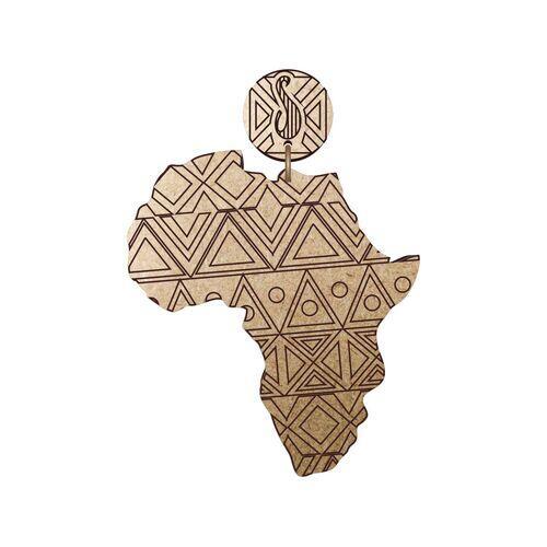 Brinco África Étnica MDF